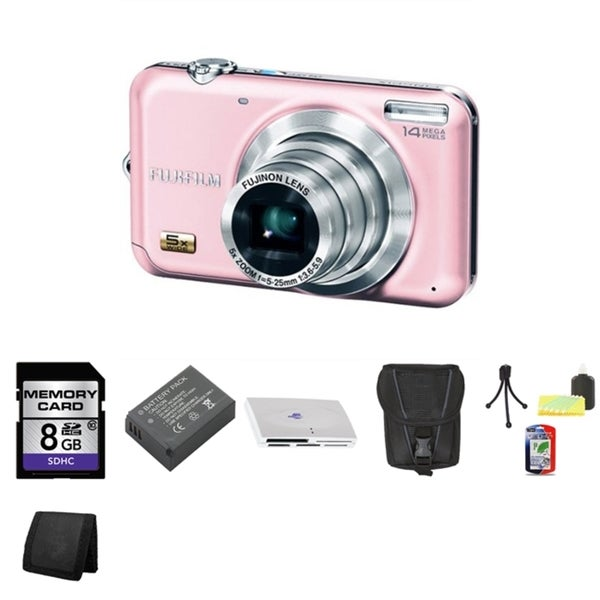 Fujifilm FinePix JX280 14.1MP Digital Camera with 8GB Bundle