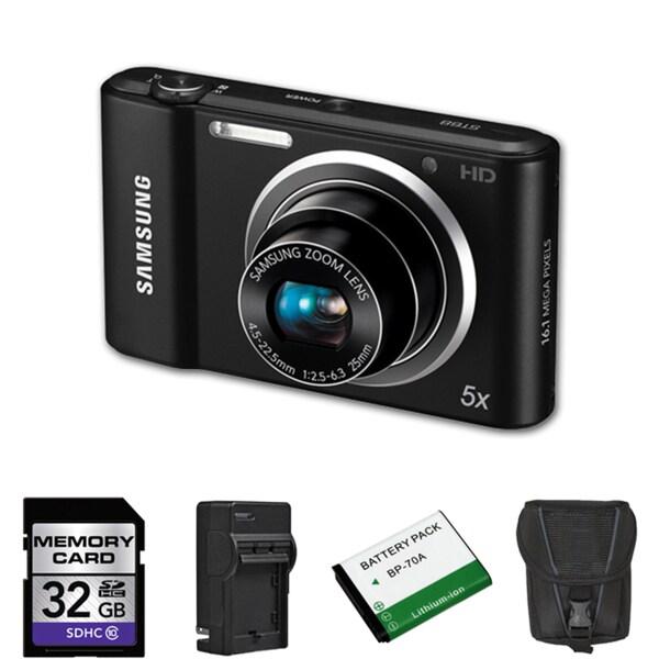 Samsung ST68 16.1MP Digital Camera with 32GB Bundle