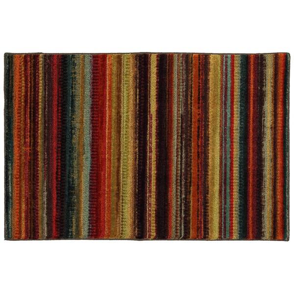 Modern Stripe Multi Anti-Fatigue Rug (2'6 x 3'9)
