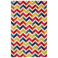 The Curated Nomad Casebolt Mixed Chevron Area Rug - 5' x 8'