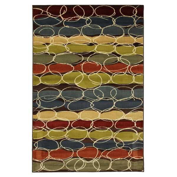 Layered Bubbles Rug (5'3 x 7'10)