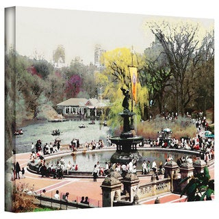 Linda Parker 'Bethesda Fountain' Gallery-Wrapped Canvas