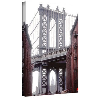 Linda Parker 'Manhattan Bridge with Empire State Building' Gallery-Wrapped Canvas