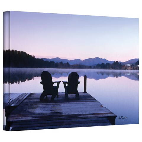 Linda Parker 'Mirror Lake, Lake Placid' Gallery-Wrapped Canvas