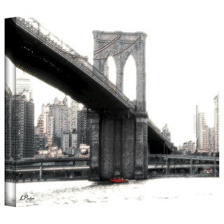 Linda Parker 'NYC Brooklyn Bridge' Gallery-Wrapped Canvas