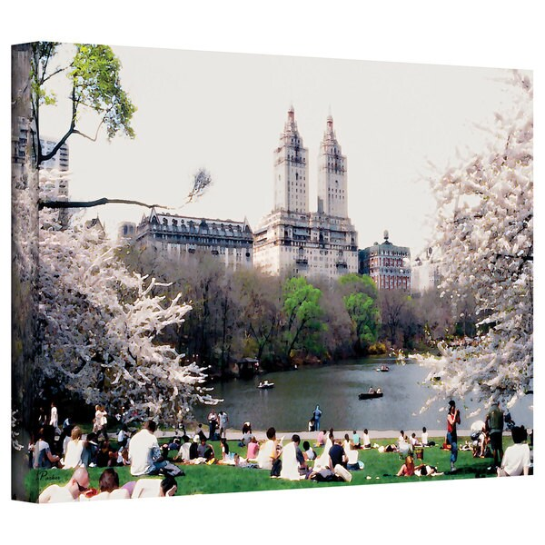 Linda Parker 'The Dakota & Central Park' Gallery-Wrapped Canvas