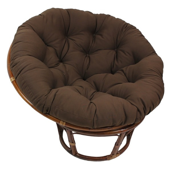 Blazing Needles 44 Inch Solid Twill Papasan Cushion