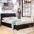 Carbon Loft Brenner Espresso Padded Leatherette Platform Bed
