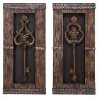 Handcrafted Vintage Metal Keys 2-piece Wall Art Decor Set