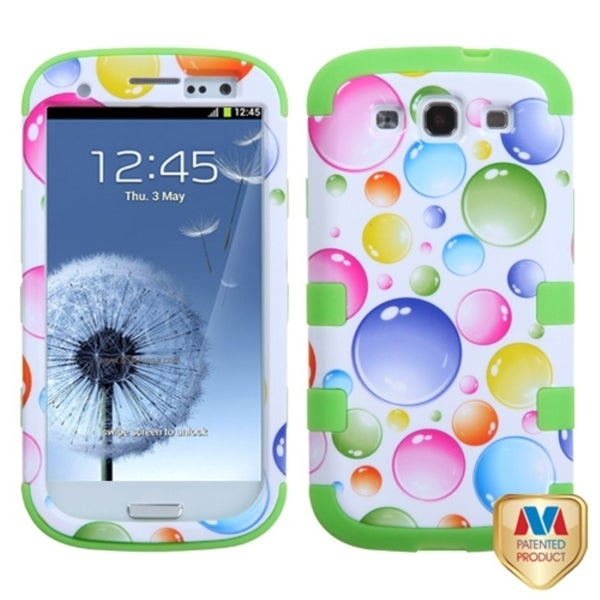 INSTEN Rainbow Bubbles Case Cover for Samsung Galaxy S III/ S3 i9300