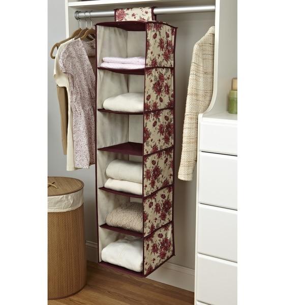 Laura Ashley U0026#x27;Milneru0026#x27; 6 Shelf Closet Organizer