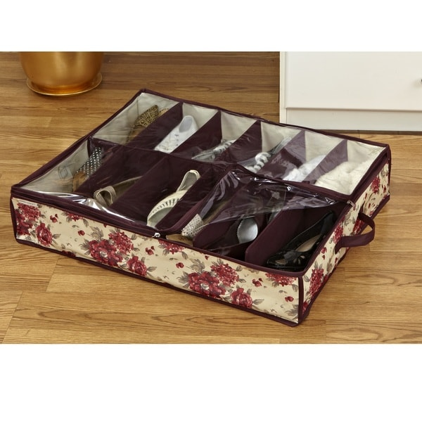 Shop Laura Ashley 12 Pair Under The Bed Shoe Organizer