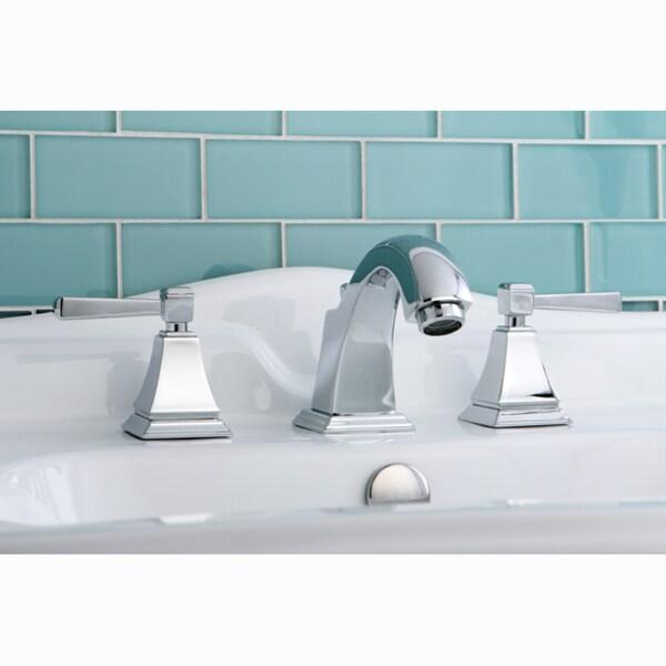 Modern Chrome Widespread Bathroom Faucet