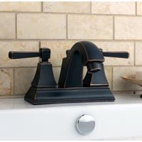 Oil-rubbe Bronze Centerset Bathroom Faucet