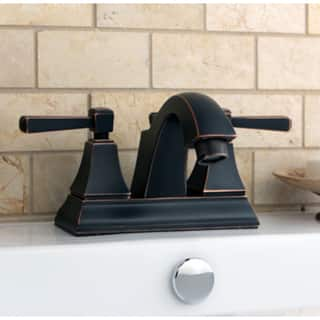 Oil-rubbe Bronze Centerset Bathroom Faucet