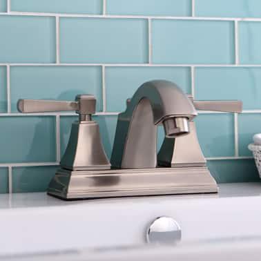 Brushed Nickel Centerset Bathroom Faucet