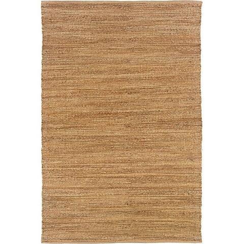 LR Home Hand Loomed Natural Fiber Sonora Sahara Jute/ Chenille Rug - 9' x 12'