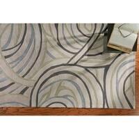 LR Home Fashion Ivory Geometric Area Rug (5'3 x 7'5) - 5' x 7'9