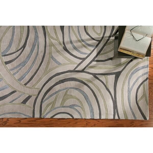 LR Home Fashion Ivory Geometric Area Rug - 7'9 x 9'9