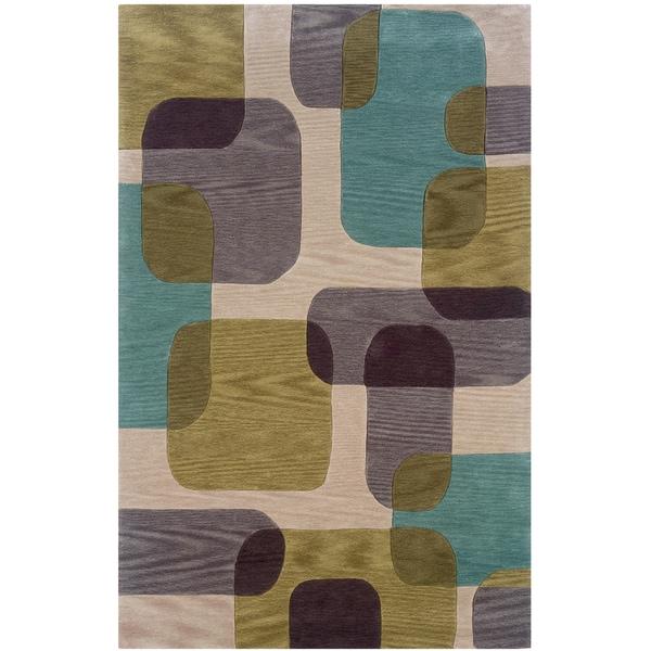 LNR Home Fashion Ivory Geometric Area Rug (7'9 x 9'9)