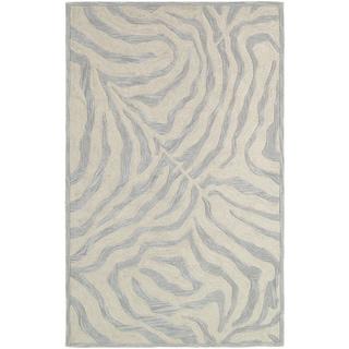 LNR Home Fashion Taupe/ Silver Geometric Animal-print Area Rug (7'9 x 9'9)