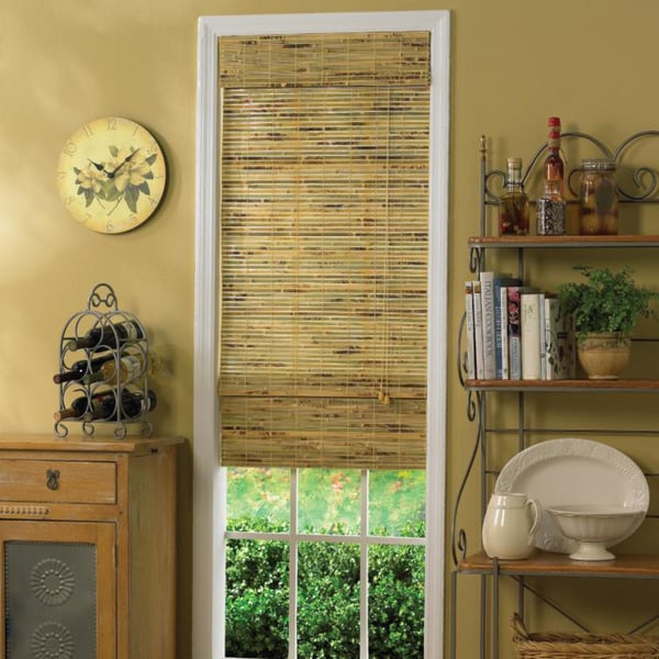 Java Natural Bamboo Roman Shade