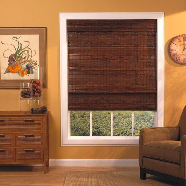 Lewis Hyman Mahogany Roman-Style Bamboo Shade