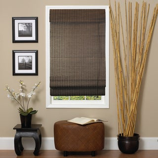 Lewis Hyman Natural Espresso Roman-Style Fiber Shade