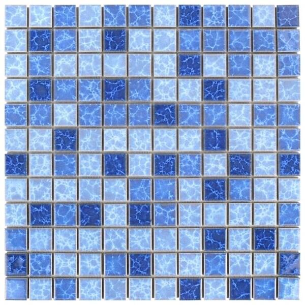 Shop SomerTile Xinch Watermark Square Aegean Porcelain - 1 inch square ceramic tiles