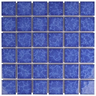 SomerTile 11.875x11.875-inch Watermark Mega Square Catalan Porcelain Mosaic Floor and Wall Tile (Cas
