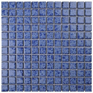 SomerTile 11.75x11.75-inch Watermark Square Catalan Porcelain Mosaic Floor and Wall Tile (Case of 10