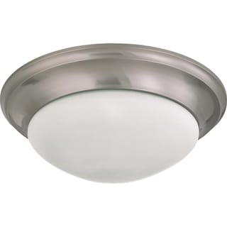 Nuvo Interior Home 3-light Brushed Nickel Flush Mount Fixture