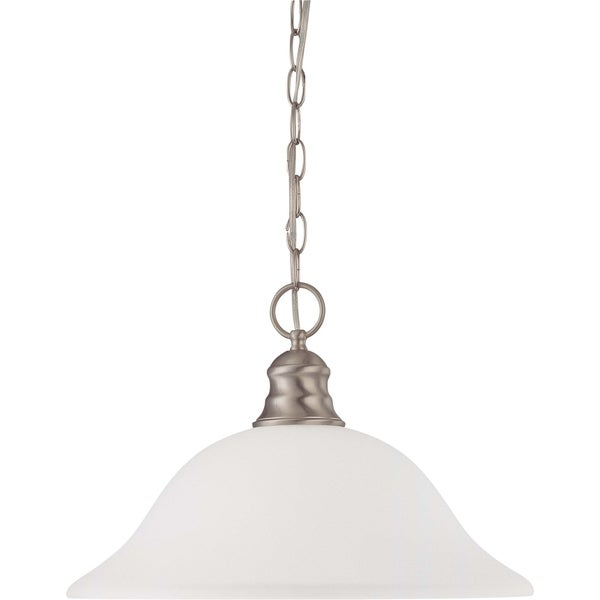 Nuvo Energy Saver 1-light Brushed Nickel Pendant