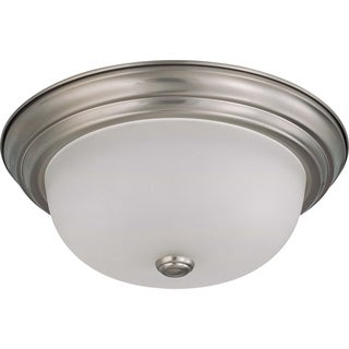 Nuvo Energy Saver 2-light Brushed Nickel Flush Mount Fixture