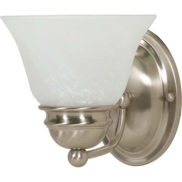 Shop nuvo empire indoor one light brushed nickel vanity - 8 light bathroom fixture brushed nickel ...