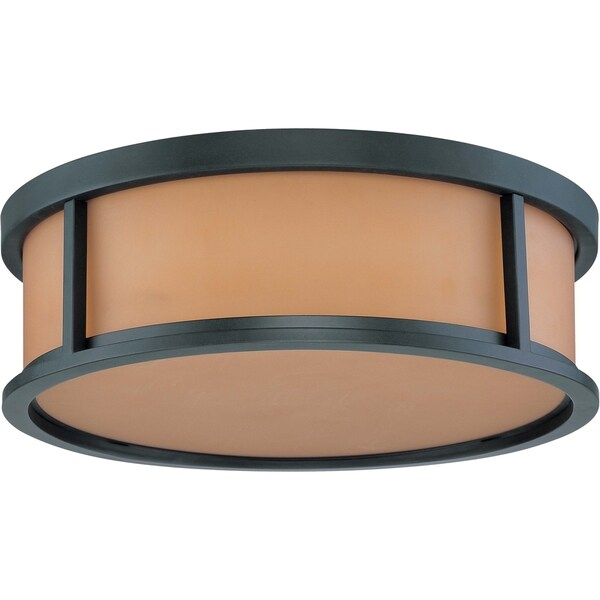 Nuvo Odeon 3-light Aged Bronze Flush Mount Fixture
