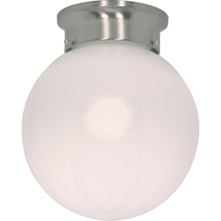 Nuvo Energy Saver 1-light Brushed Nickel Flush Mount Fixture