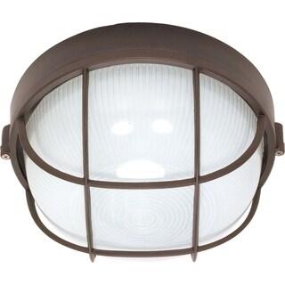 Nuvo 1-light Architectural Bronze Round Cage Bulk Head