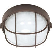 Nuvo 1-light Architectural Bronze Round Cage Bulk Head