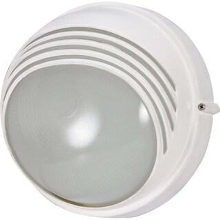 Nuvo 1-light Semi Gloss white Round Hood Bulk Head