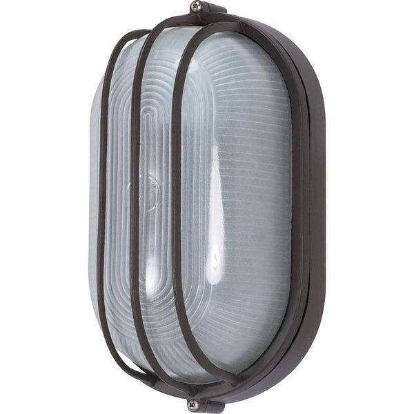 Nuvo 1-light Architectural Bronze Oval Cage Bulk Head