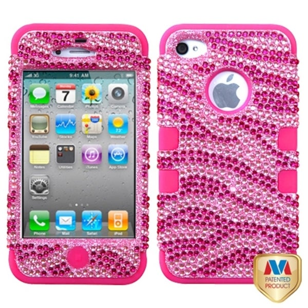 MYBAT Zebra/ Hot Pink Case for Apple iPhone 4/ 4S