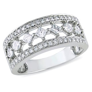 Miadora 10K White Gold 1/2ct TDW Princess-cut Diamond Ring (H-I, I2-I3)