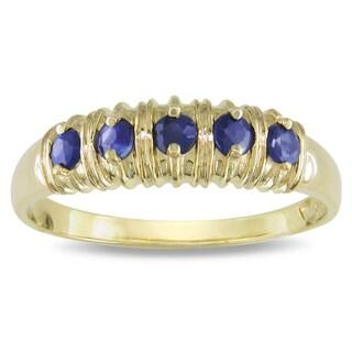 Miadora 10k Yellow Gold Sapphire Ring