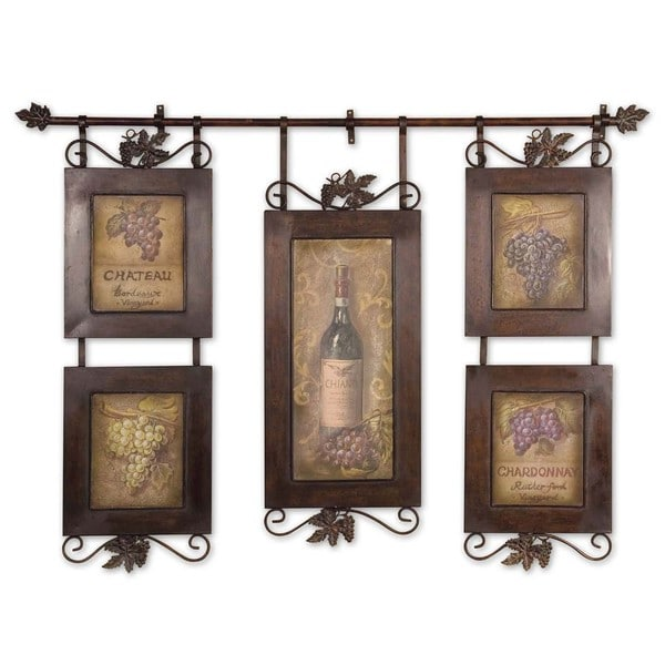 Shop Uttermost Grace Feyock \'Hanging Wine\' Framed Art - Brown - Free ...