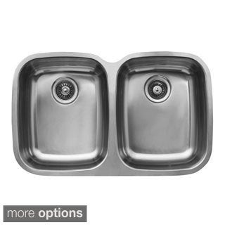 Ukinox D376.50.50.8 50/50 Double Basin Stainless Steel Undermount Kitchen Sink