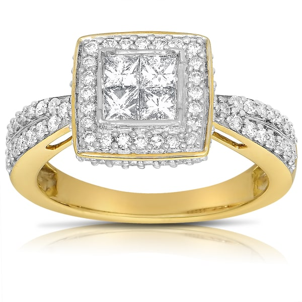 14k Two-tone Gold 1ct TDW Diamond Engagement Ring (G-H, I1-I2)