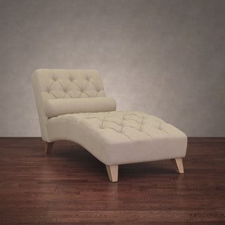 Cleo Natural Linen Chaise Lounge