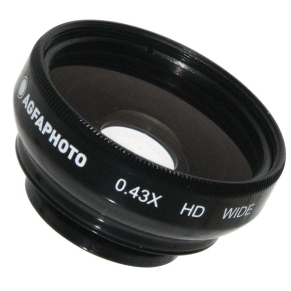 AGFA 0.43X Magnetic wide Angle Lens for Point and Shoot Cameras 17mm