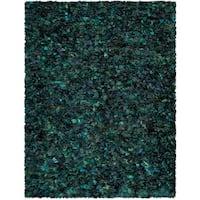 Safavieh Handmade Decorative Rio Shag Green/ Blue Area Rug - 8' x 10'